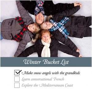 Winter Bucket List - The amenity rich, maintenance free lifestyle at Athertyn gives you the opportunity to pursue all that you've wished for.