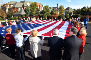 Flag Ceremony at Athertyn